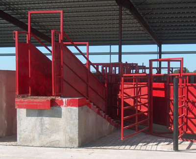 Steel and Concrete Loading Chute