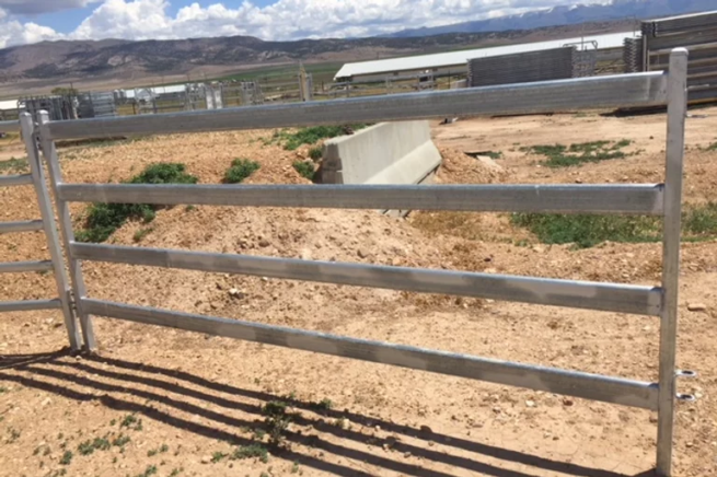 Steel fence in action